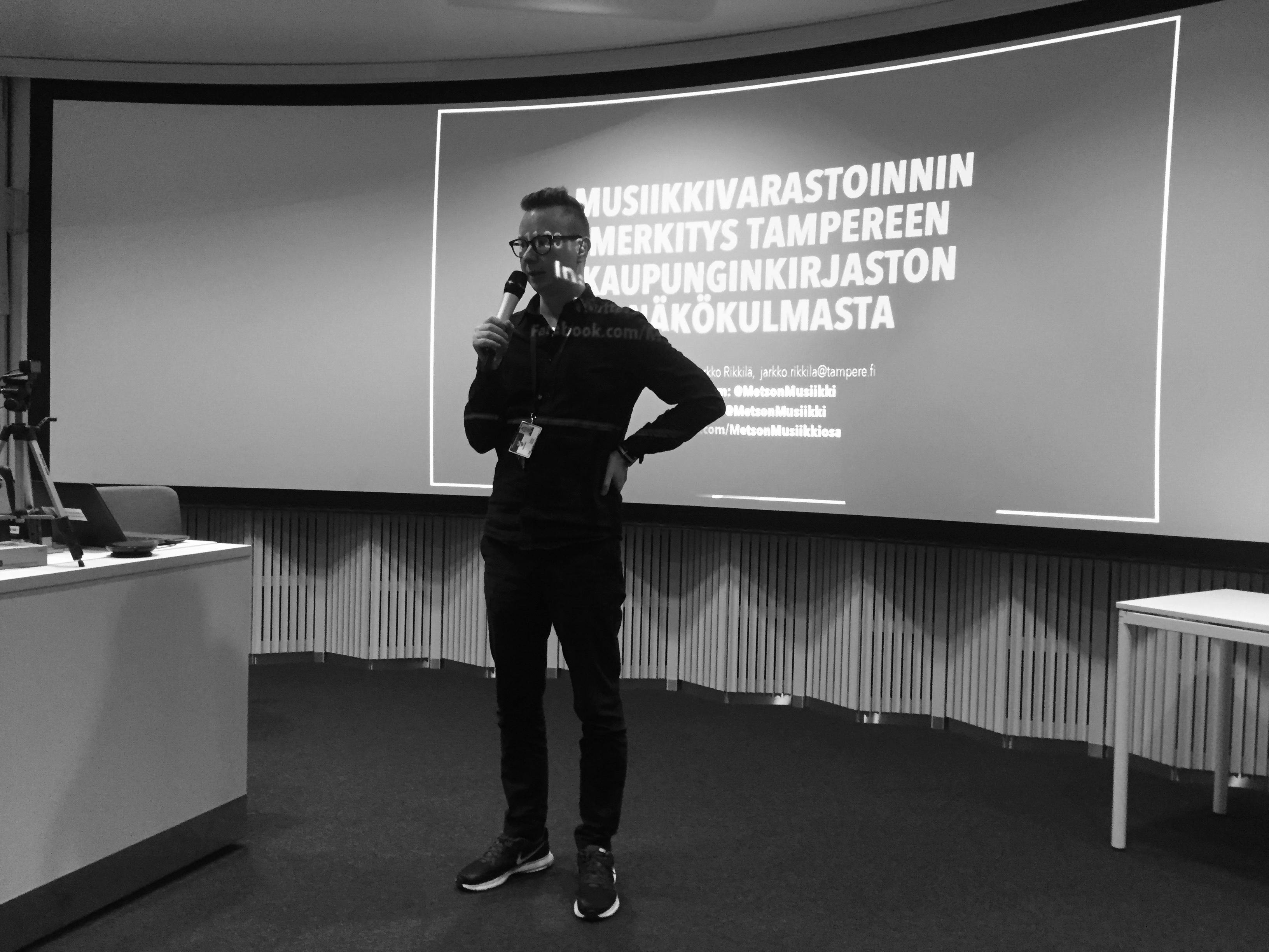 Jarkko Rikkilä, Tampereen kaupunginkirjasto.