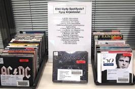 Spotifyssa ei ole kaikkea. Kangasalan kirjaston uusi esillepano Eikö löydy Spotifysta? vinkkaa striimauspalvelun ulkopuolelle.