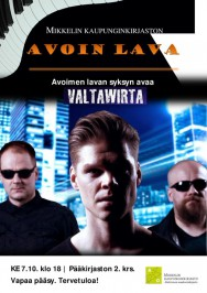 Valtawirta konsertoi Mikkelin kirjastossa 7. lokakuuta.