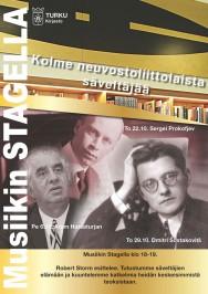 Robert Storm avaa Turun musiikkikirjastossa tapahtumasarjan Kolme neuvostoliittolaista säveltäjää. Torstaina 22.10. Stagella tutustutaan Sergei Prokofjevin elämään ja musiikkiin. Tilaisuuksiin on vapaa pääsy.