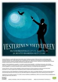 Vesterinen Yhtyeineen esiintyy Turun musiikkikirjaston Stagella perjantaina 27. marraskuuta klo 16.30.