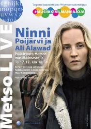 Ninni Poijärvi ja Ali Alawad esiintyvät Tampereen pääkirjasto Metson musiikkiosastolla torstaina 17. joulukukuuta. Tilaisuus alkaa klo 16.30.