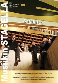 Nelihenkinen Salaliitto esiintyy akustisesti Turun musiikkikirjastossa lauantaina 19. joulukuuta. Keikka alkaa klo 14.