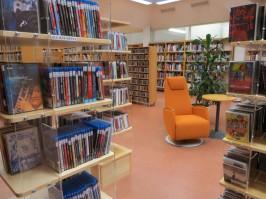 Lappeenrannan pääkirjaston uudistunut musiikkiosasto avattiin joulukuussa 2015. Kuva: Jenni Santaholma.