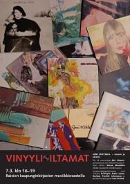 Raision kirjaston Vinyyli-Iltamat 2016 järjestetään maanantaina 7. maaliskuuta.