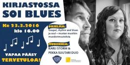 Mikkelin kirjastossa soi blues keskiviikkona 23. maaliskuuta klo 16 alkaen.