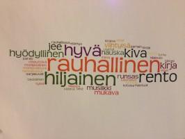 Lappeenrannan pääkirjaston tunnelmaa musiikkiosaston ovelta. Kuva: Meri Kytö.