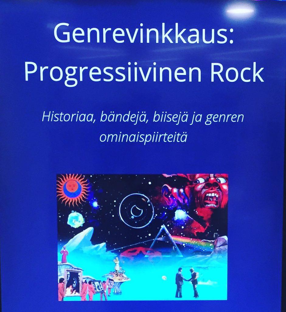 Lahden pääkirjaston genrevinkkauksessa 31. toukokuuta 2017 aiheena progressiivinen rock.