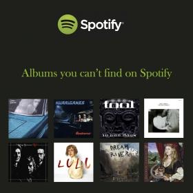 Mitä levyjä Spotifyssa ei ole? Katso listaus ja etsi levyjä kotikirjastostasi!