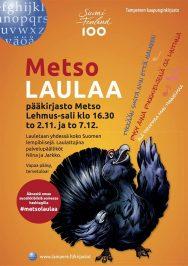Tampereen pääkirjasto Metso laulaa marras-joulukuussa 2017.