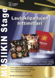 Turun musiikkikirjastossa vietetään 'Laulukilpailujen hittimittaria loka-marraskuussa 2017. Hittejä luvassa kolmena tiistai-iltapäivänä klo 14 alkaen.