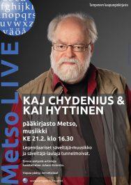 Kaj Chydenius ja Kai Hyttinen vierailevat Metsossa 21. helmikuuta 2018.