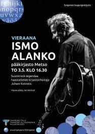 Ismo Alanko oli Juhani Koiviston haastateltavana 3.5.2018.
