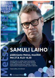 Samuli Laiho vierailee Tampereen pääkirjasto Metsossa maanantaina 27.8.2018.