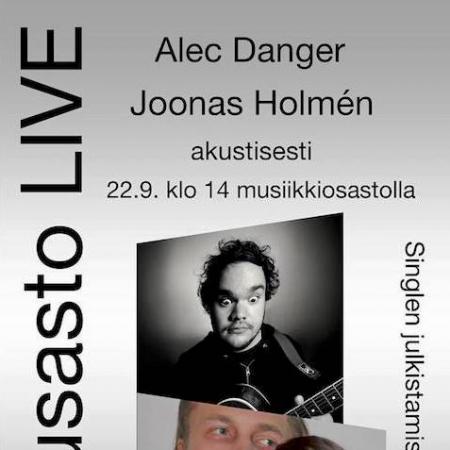 Alec Danger ja Joonas Holmén esiintyvät Turun musiikkikirjastossa la 22.9.