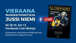Metson Facebook-liven vieraana ke 28.10. musiikkitoimittaja Jussi Niemi.