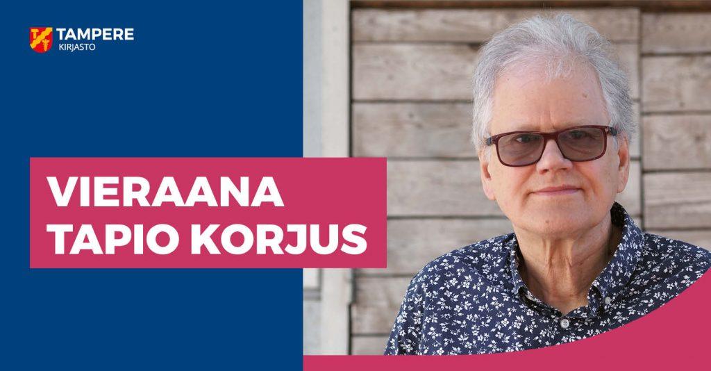 Tapio Korjus vierailee Tampereen pääkirjasto Metsossa 15. syyskuuta 2021.