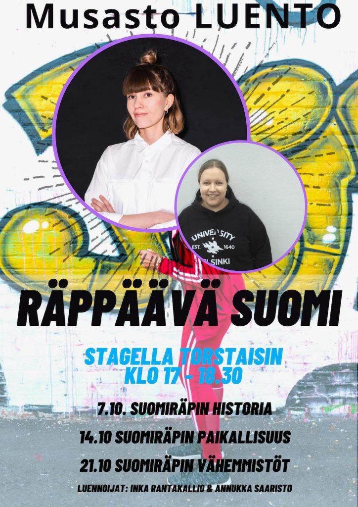 Räppävä Suomi –luentosarja Turun musiikkikirjastossa 2021