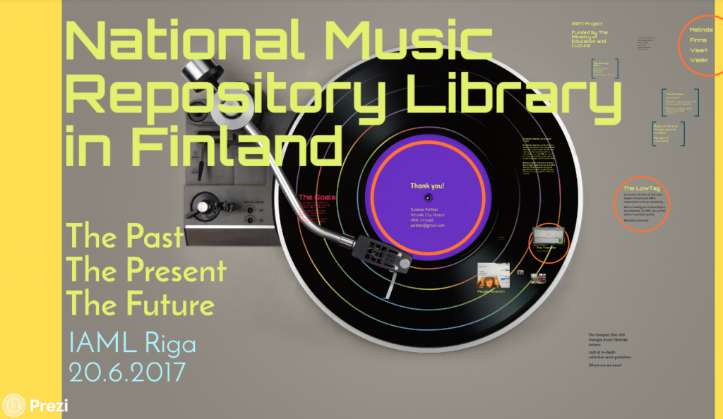 National Music Repository Library – The Past, The Present, The Future | IAML Riga 2017.