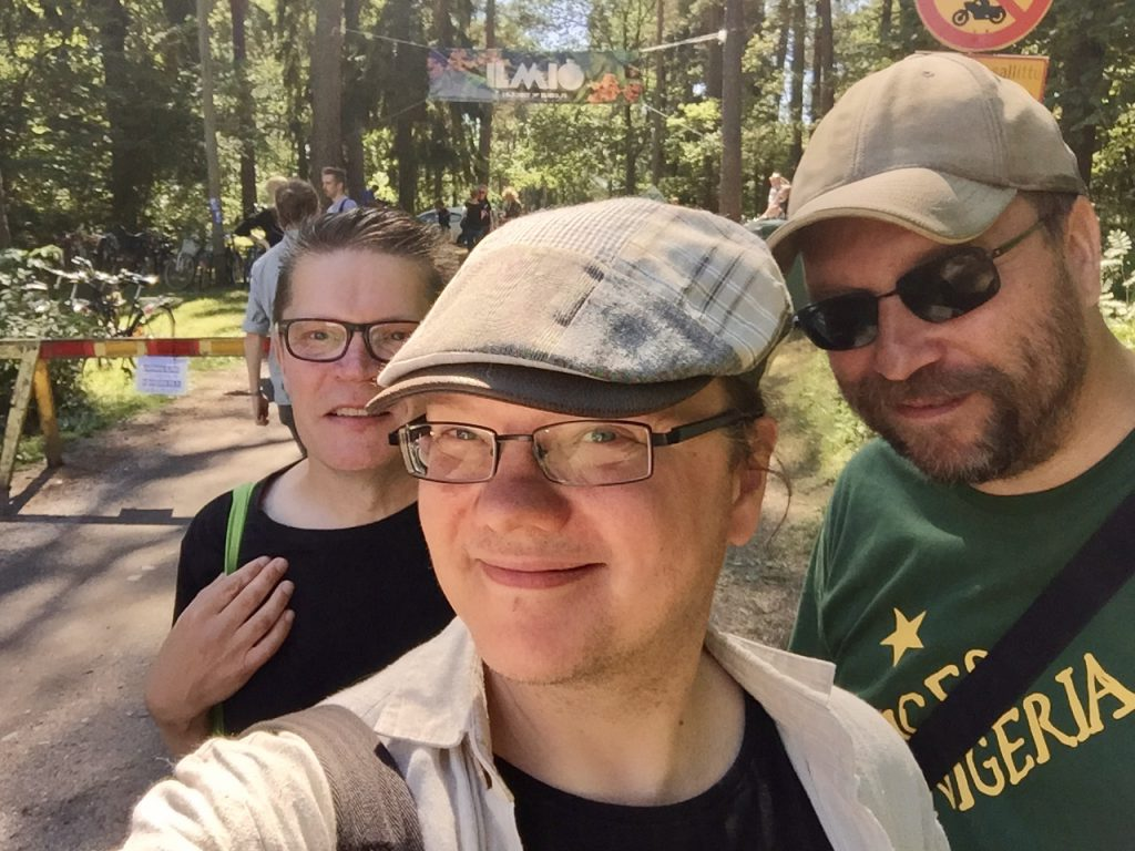 Ovella Ilmiöön 2017. Vesa Lehtonen (vas.), Tuomas Pelttari ja Petri Kipinä.