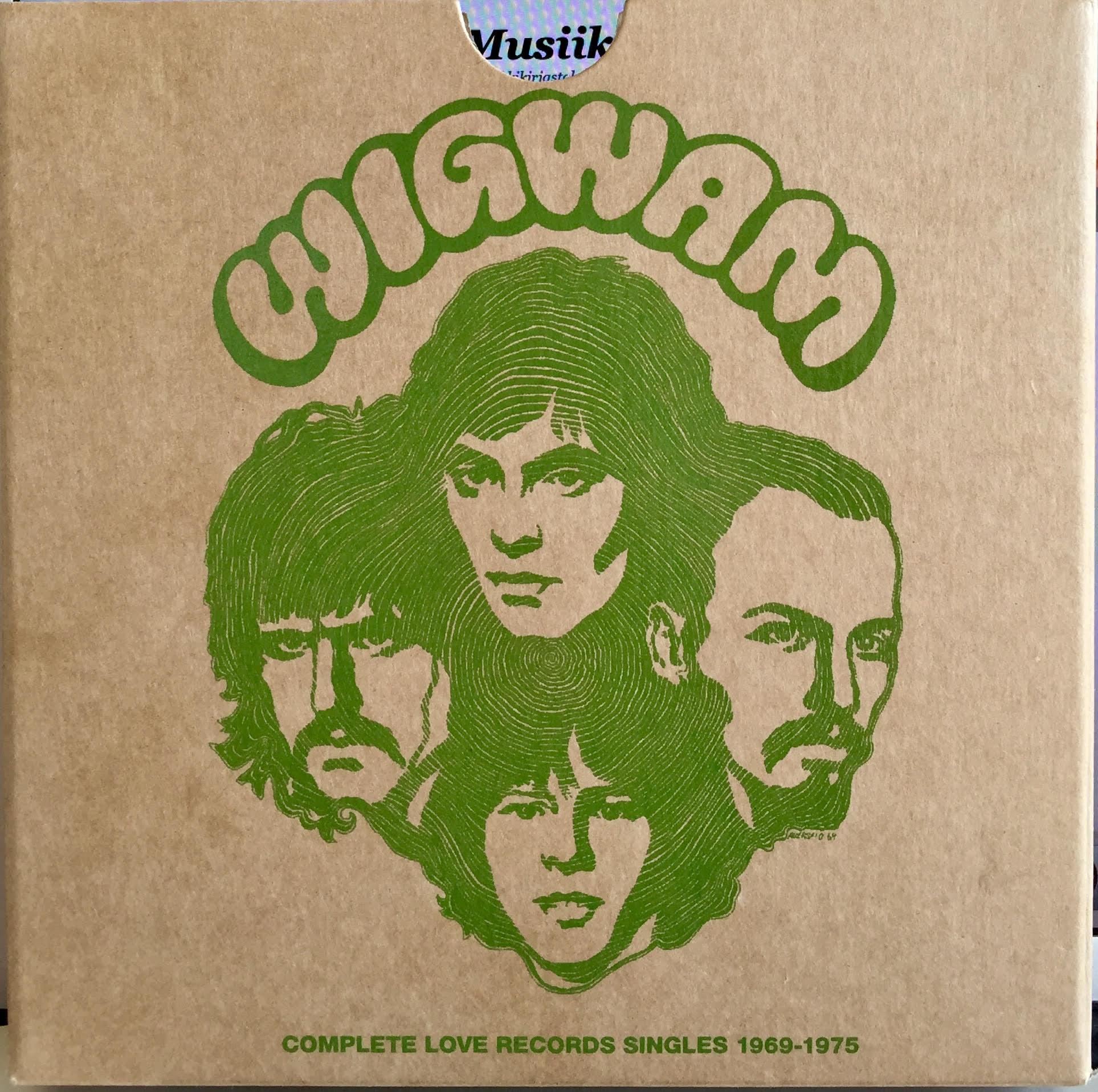 Wigwam-kokoelma 'Compete Love Records Singles 1969–1975' julkaistiin alkuvuodesta 2018. Kuuden singlen boksi sisältää 40-sivuisen liitevihkon ja julisteen.