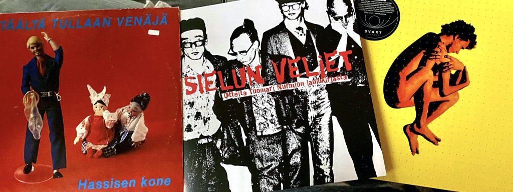 Hassisen Kone: Täältä tullaan Venäjä (1980), Sielun Veljet: Otteita Tuomari Nurmion laulukirjasta (2007) ja Ismo Alanko: Jäätyneitä lauluja (1993).