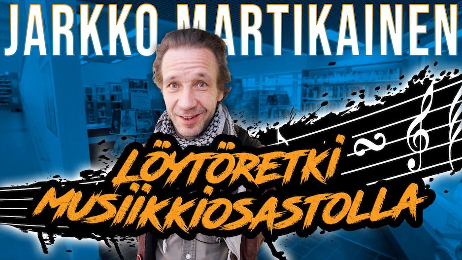 Jarkko Martikainen – Löytöretki musiikkiosastolla. Kuva: Kirjastokaista.