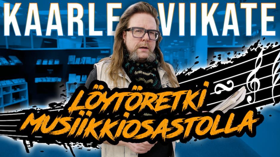 Kaarle Viikate vieraili Kirjastokaistan sarjassa Löytöretki musiikkiosastolla.