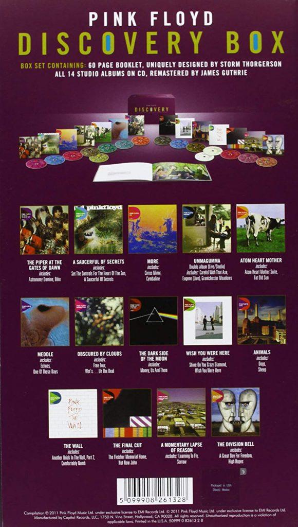 Discovery-boksi sisältää 16 CD-levyä, mukana myös The Dark Side Of The Moon.
