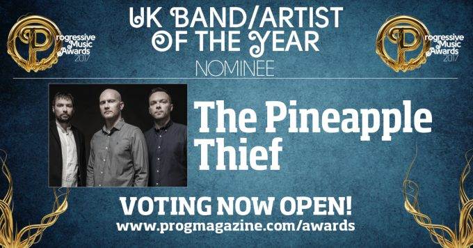 The Pineapple Thief on ehdolla vuoden brittibändiksi 2017 Prog Awards -kisassa.