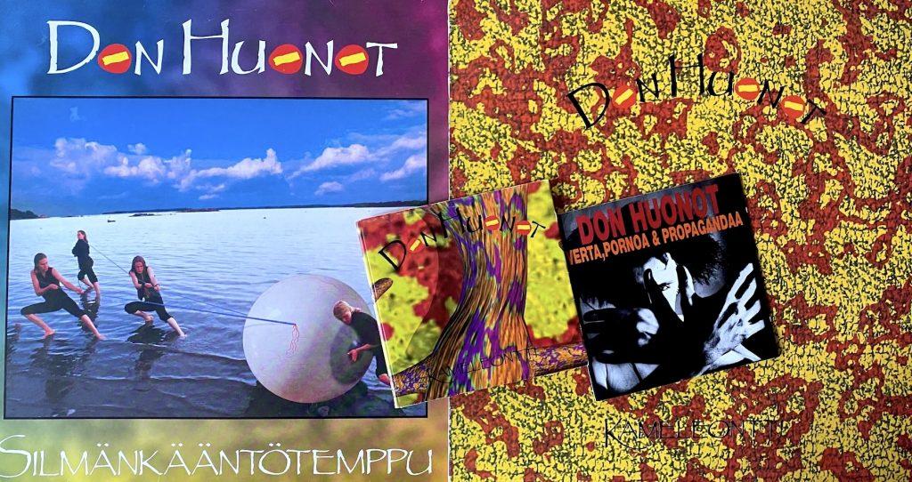 Don Huonot -albumituotantoa 1991–1994: Silmänkääntötemppu, Kameleontti ja Verta, pornoa ja propagandaa. Kuva: Tuomas Pelttari