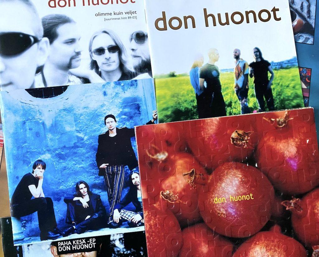 Hyvää yötä ja huomenta (1997), Tähti (1999), Don Huonot (2002). Paha kesä EP ja kokoelmalevy Olimme kuin veljet julkaistiin vuonna 2003. Kuva: Tuomas Pelttari