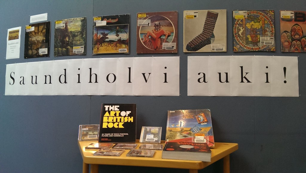 Tikkurilan musiikkivaraston eli Saundiholvin aineistoa on ollut esillä Kallion kirjastossa syyskuusta 2014 alkaen.