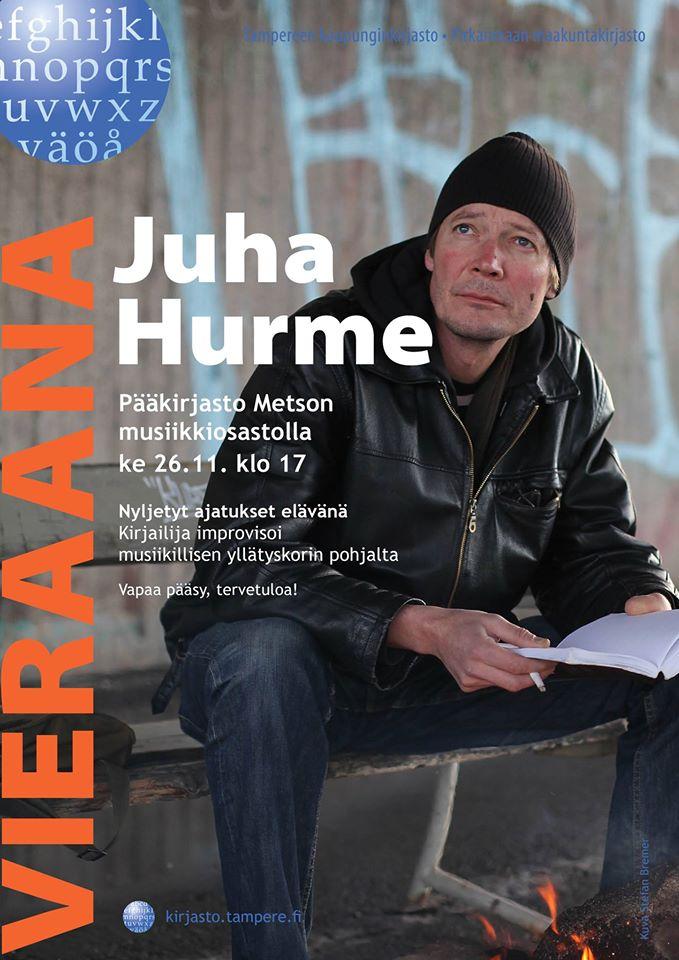 Juha Hurme on Metson vieraana 26.11.