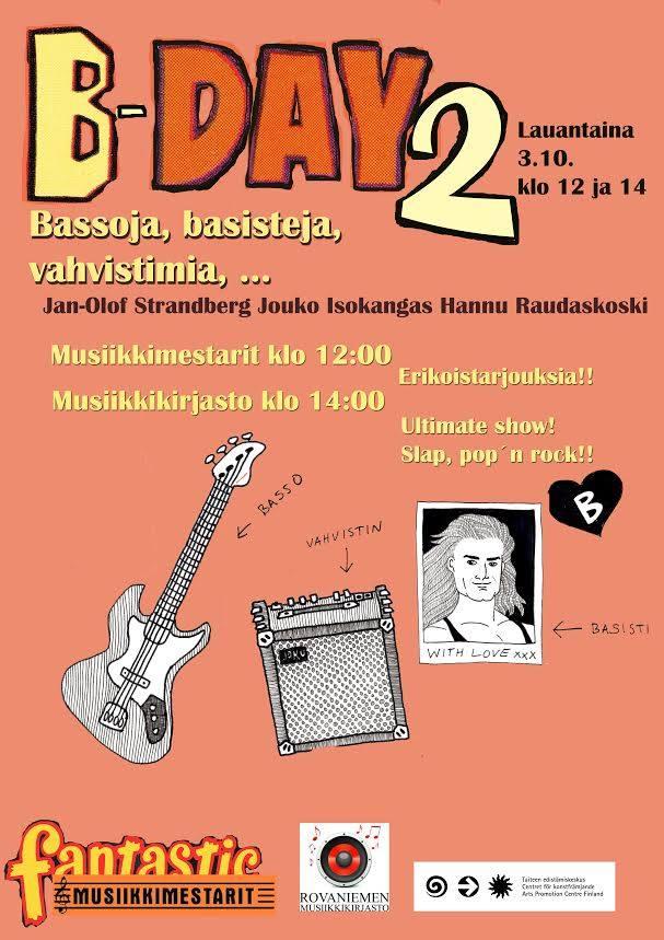 B-Day 2 Rovaniemen musiikkikirjastossa 3.10. klo 14 alkaen.