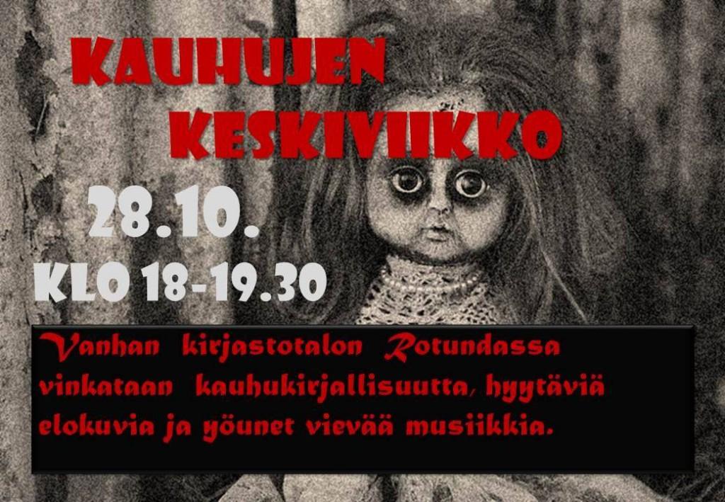 Kauhujen keskiviikko – Turun vanha kirjastotalo 28.10.2015.