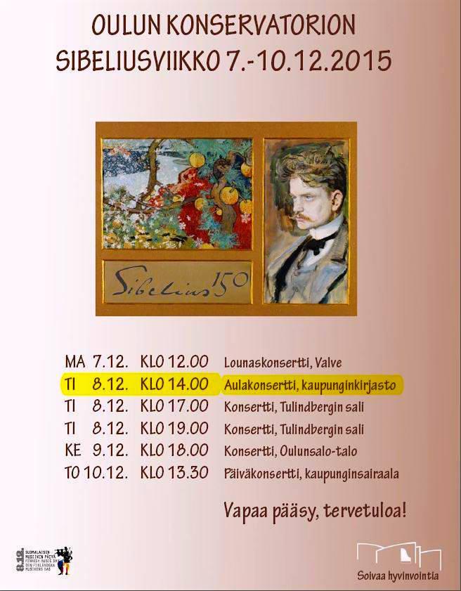 Oulun konservatorion Sibeliusviikko 2015.
