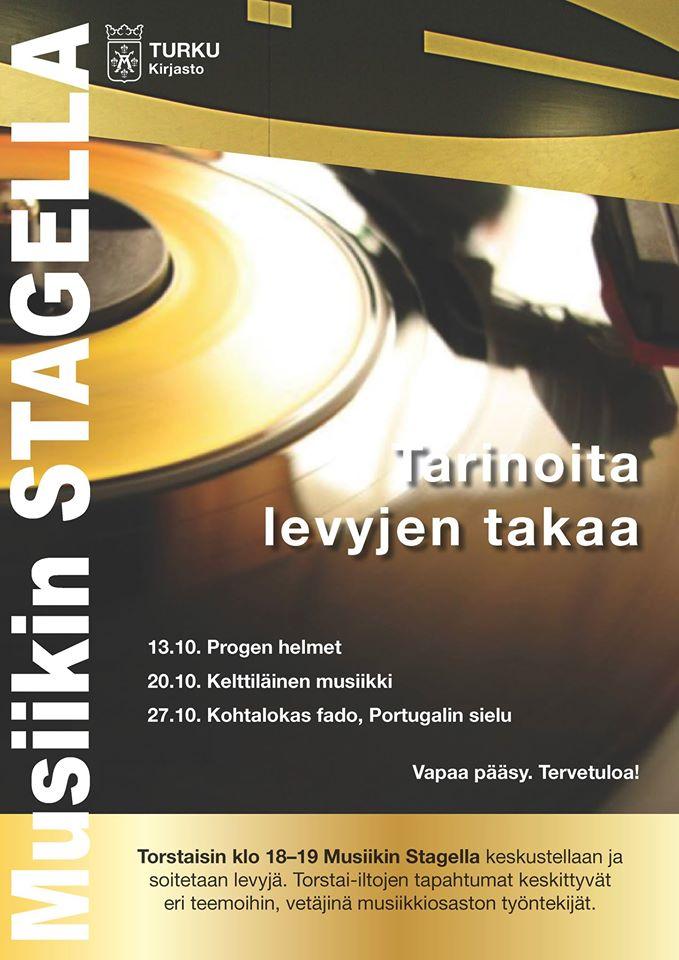 Progen helmet Turun musiikkikirjastossa 13. lokakuuta 2016. Luvassa progressiivisen rockin klassikoita 1970-luvulta.