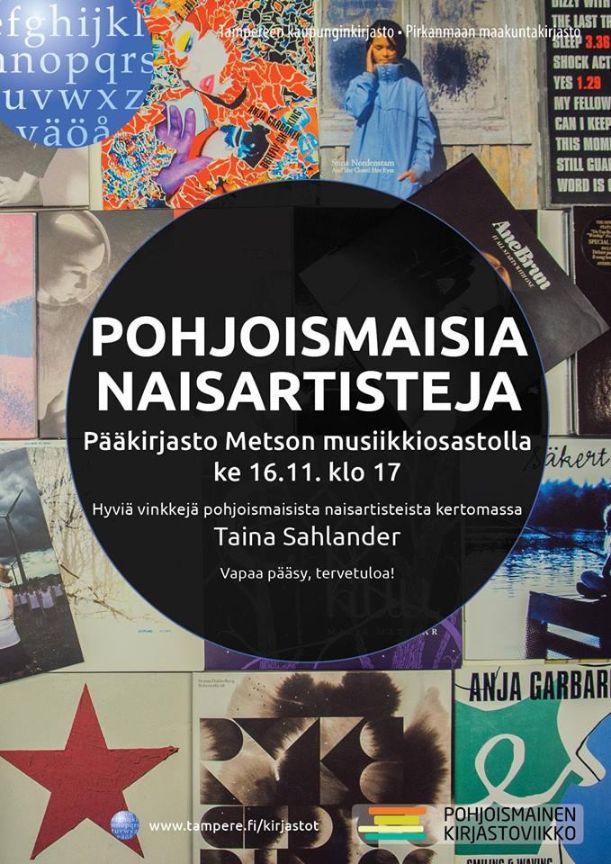 Taina Sahlander & Metson musiikkiosasto: pohjoismaisia naisartisteja.