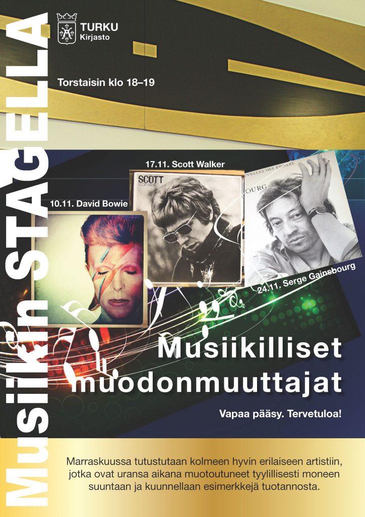 Robert Storm ja Musiikilliset muodonmuuttajat Musiikin Stagella Turussa marraskuussa 2016.