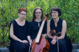 Barokkitriossa soittavat Tiina Aho-Erola, Maija Lampela ja Anna Orasmaa.
